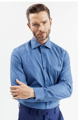 Camasa pentru barbati albastra cu picouri bleu