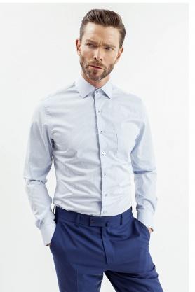 Camasa business pentru barbati in carouri albastre