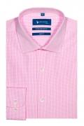 Camasa business cu carouri roz pentru barbati