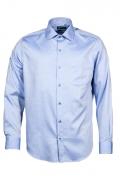 Camasa culoare bleu cu dungi albe pentru barbati