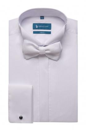 Camasa alba pentru ceremonie cu papion alb