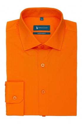 Camasa portocalie cu maneca lunga