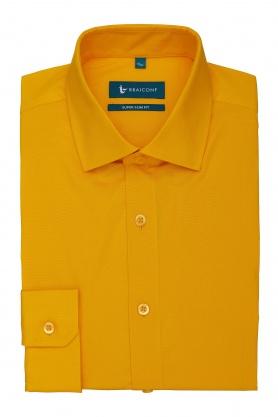 Camasa super slim fit culoare galben pentru barbati