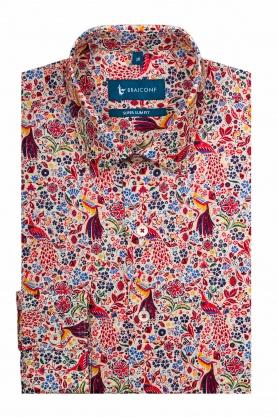 Camasa casual pentru barbati multicolora cu print floral