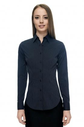 Bluza de dama neagra in dungi gri