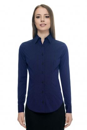 Bluza de dama neagra in dungi bleumarin