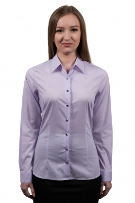 Bluza dama office culoare lila cu maneca lunga