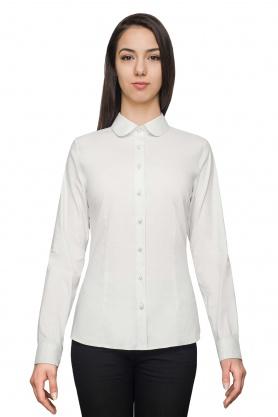 Bluza dama office culoare gri cu maneca lunga