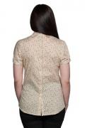 Bluza dama casual culoare ecru cu print
