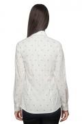 Bluza dama office culoare alb cu print