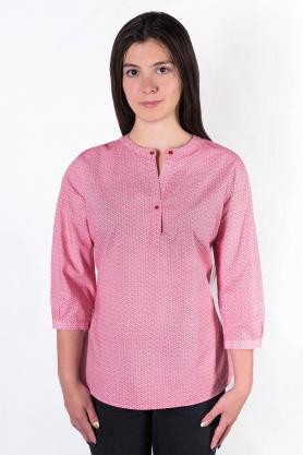 Bluza dama casual culoare rosu cu print