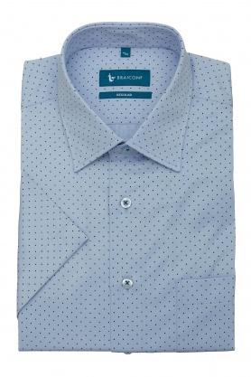 Camasa pentru barbati bleu cu maneca scurta si buline discrete