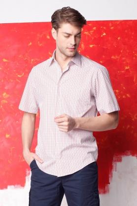 Camasa pentru barbati clasica rosie cu maneca scurta