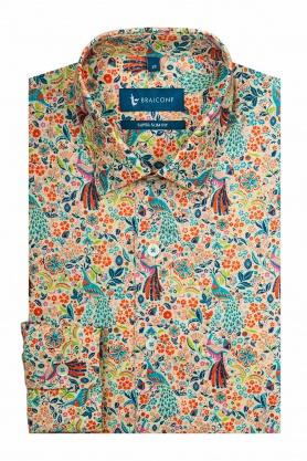 Camasa cu maneca lunga cu print multicolor