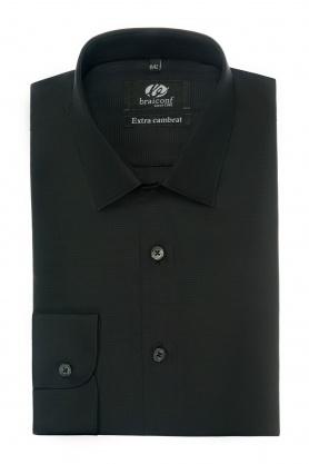 Camasa neagra super slim fit din bumbac