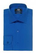 Camasa slim fit bleu in dungi