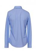 Bluza de dama Bleu cu picouri albe