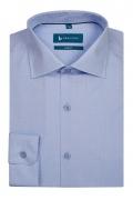 Camasa bleu cu print alb pentru barbati