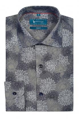 Camasa gri cu print floral pentru barbati