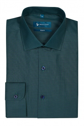 Camasa verde in carouri bleumarin pentru barbati
