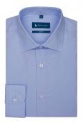 Camasa easy-care bleu slim fit