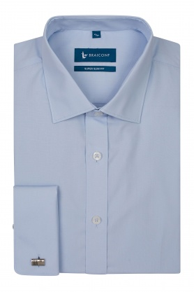 Camasa easy-care bleu super slim fit