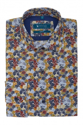 Camasa Royal cu print floral multicolor