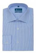 Camasa bleu cu dungi albe pentru barbati