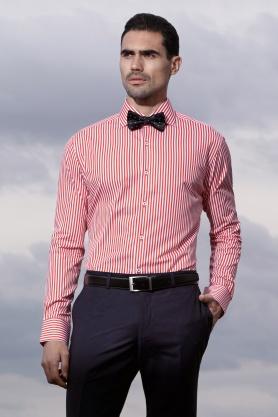 Camasa rosie cu dungi albe