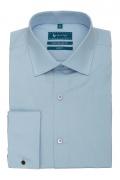 Camasa cu butoni culoare bleu pentru barbati