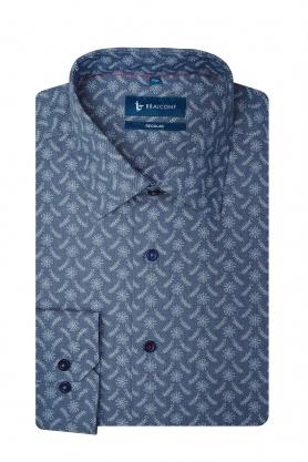 Camasa bleumarin cu printuri florale pentru barbati