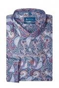 Camasa super slim fit cu printuri multicolore