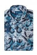 Camasa pentru barbati bleu din bumbac