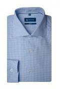 Camasa bleu cu printuri albe