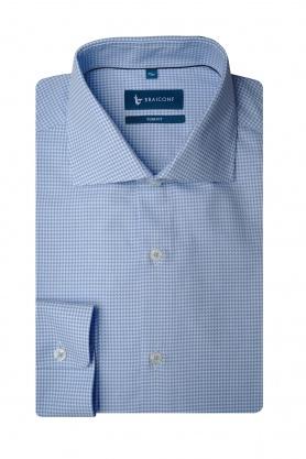 Camasa pentru barbati bleu cu printuri albe