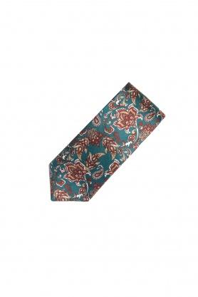 Cravata verde din matase cu desene