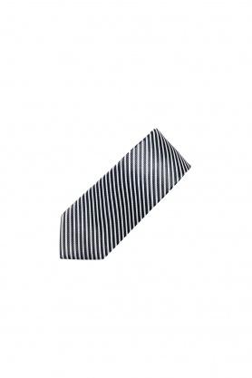 Cravata cu dungi negre si albe