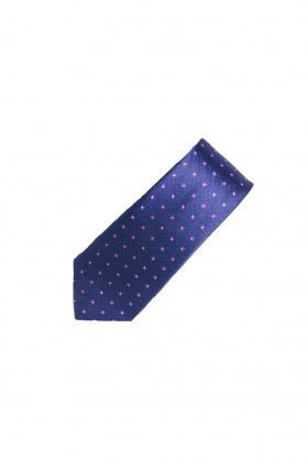 Cravata mov cu print floral