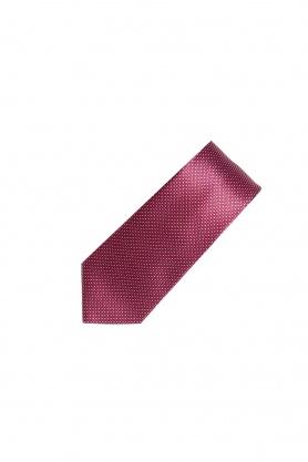 Cravata rosie cu buline albe
