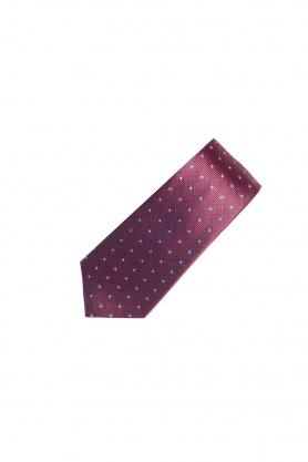 Cravata grena cu stelute