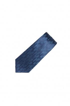 Cravata poliester bleumarin