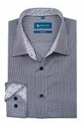 Camasa clasica alba in crouri bleumarin pentru barbati