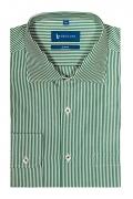 Camasa business alba cu dungi verzi pentru barbati