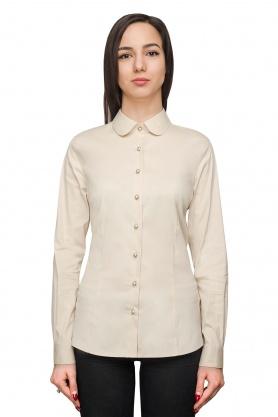 Bluza dama office culoare ecru cu maneca lunga