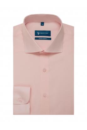Camasa business roz uni maneca lunga extraslim