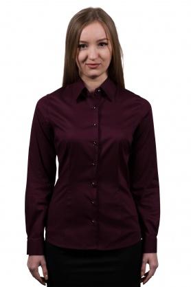 Bluza dama office culoare grena cu maneca lunga