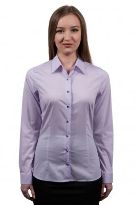 Bluza lila office pentru dama cu maneca lunga