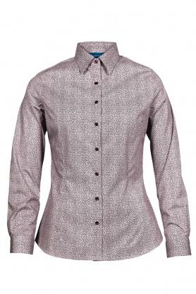 Bluza dama office culoare grena cu print