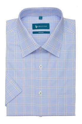 Camasa bleu cu maneca scurta pentru barbati