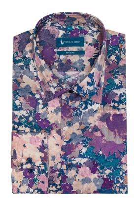 Camasa casual cu print floral pentru barbati